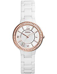 Women's CE1082 Virginia Ceramic Watch - White with Rose Gold-Tone Accents