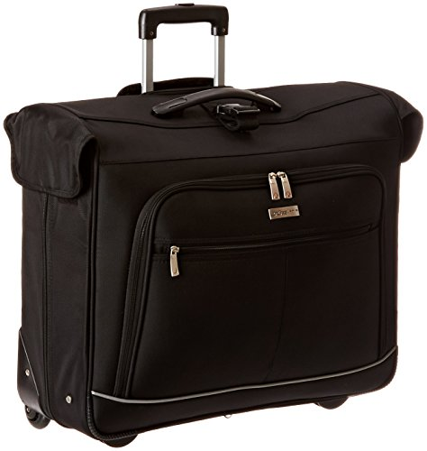 travelers-choice-vienna-classic-black-softshell-rolling-wheel-garment-bag-luggage-black-23-inch