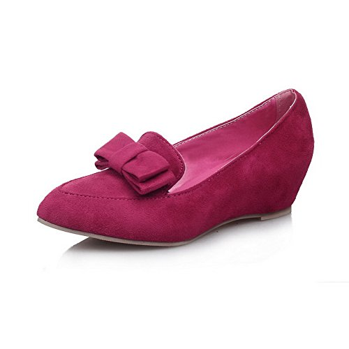 Flats BalaMasa Rubber Solid Toe Rosered Shoes Womens Bows Round Yvw6vUaq