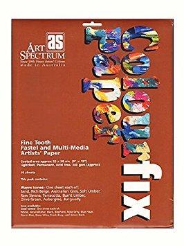 Colourfix Pastel Primer - Art Spectrum Colourfix Paper Rainbow Packs warm tones pack of 10