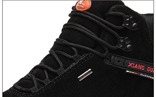 XIANG Chaussures GUAN Noir Suède Randonnée de Montantes Bottes Trekking Respirant Femme Sport Outdoor Imperméable HZHgUw