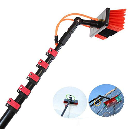 Water Fed Pole Kit(9M), Window and Solar Cleaning Pole w/Brush Window and Solar Panel Cleaning System Windows Cleaning & Washing Tool (Best Water Fed Pole System)
