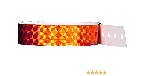 Neon Lime Wristband Giant PlasticTechno Wristbands Box of 100