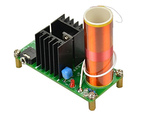 Aoshike DC 15-24v 15W Mini Music Tesla Coil Plasma Speaker diy kits plasma loudspeaker Tesla Wireless Transmission Diy KITS