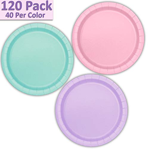(120 Paper Dessert Plates (7