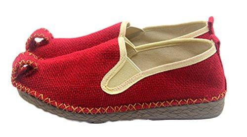 Soojun Women's Burlap Oxfords Sole Aladdin Shoes, US 8.5, (Aladdin Shoes Womens)