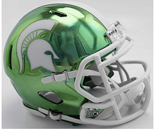 Riddell Chrome Michigan State Spartans Speed Mini Football Helmet - 2018 Chrome Alternate