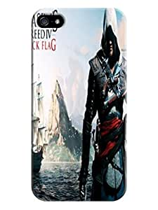 Classic design tpu phone cover with texture for iphone 5/5s of Assassin's Creed in Fashion E-Mall