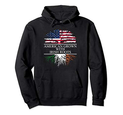 Irish Roots, American Grown, Ireland Flag Hoodie