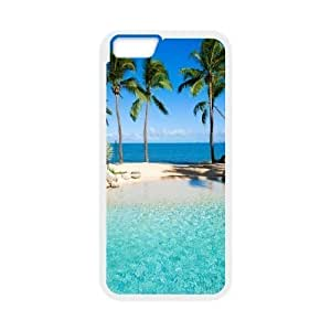 "Custom Colorful Case for Iphone6 Plus 5.5"", Beach Sun Cover Case - HL-522517"