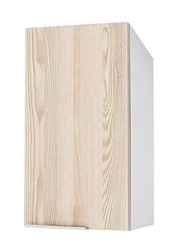Berlioz Creations Subwoofer Hochwertige Küche 1 Tür 40, folierte Spanplatte, Esche sandgestrahlt, 40 x 34 x 70 cm