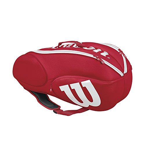 Wilson Mini Vancouver 6 Pack Tennis Bag, Red/White
