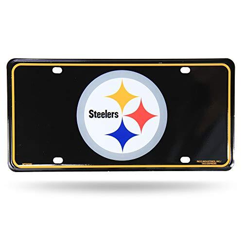 (NFL Pittsburgh Steelers Metal License Plate Tag)