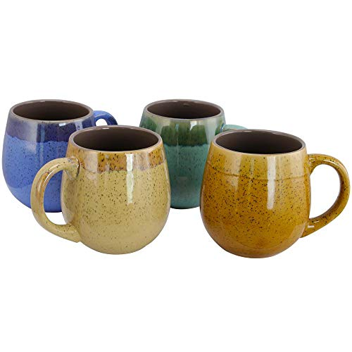 Gibson Home Hanbury 4 Pack Large Stoneware Coffee Tea Mugs Cups Large 18 Ounce