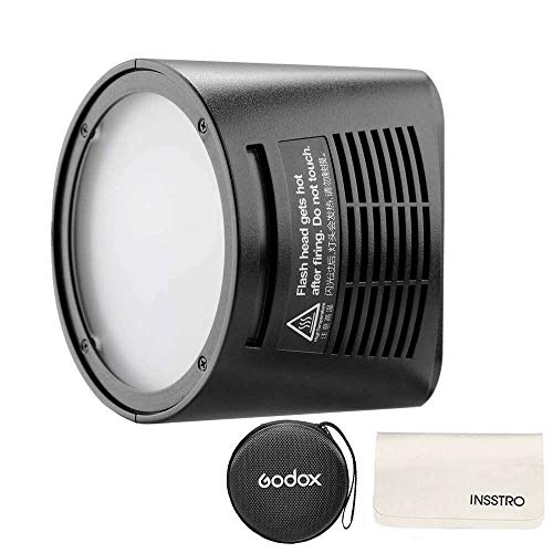 Godox H200R Ring Flash Head for AD200, 200ws Strong Power and Natural Light Effects for Godox AD200 Pocket Flash,Light and Portable ()