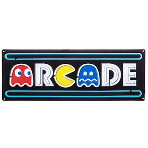 - Arcade Pac-Man Metal Sign Wall Art Home Decoration Theater Media Room Man Cave