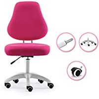 Kids Desk Chair Mid-back Mesh Computer Chair,Study Student Computer Seat 360 Degree Swivel Office Chair With Foot Rest Children Chair For Desk Teens-A 43x52x106cm(17x20x42)