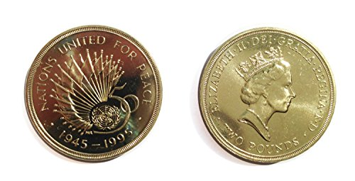 (Coins for collectors - Mint Proof British 1995 United Nations 50th Anniversary £2 / Two Pounds Coin / Great Britain)