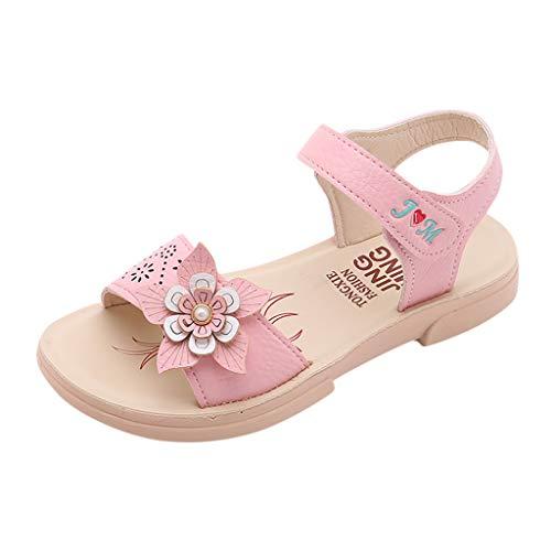 Tantisy ♣↭♣ Girls' Open Toe Beach Sandals Summer Fashion Flat Flower Sandals Princess Flats Sandals - Ultra Diamonds Two Tone Ring