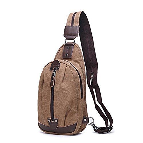 Satchel Balance Gym Vintage Hiking Bag Sling Backpack Sack Outdoor Mynos Traveling Brown Bike Shoulder Camping Chest For qXEzxH