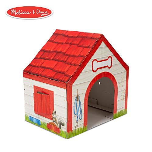 Melissa & Doug Doghouse Plush Pet Indoor Corrugate Playhouse