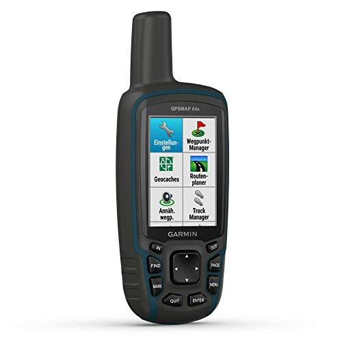 """Garmin GPSMAP 64x - robustes, wasserdichtes GPS-Outdoor-Navi mit 2,6"""" Farbdisplay, GLONASS, GALILEO, vorinstallierter Basiskarte und 16 h Akkulaufzeit. 8GB interner Speicher & papierloses Geocaching"""