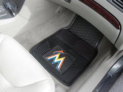 MLB - Miami Marlins Heavy Duty 2-Piece Vinyl Car Mats