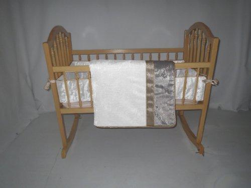 Baby Doll Bedding Crocodile Cradle Bedding Set, White by BabyDoll Bedding