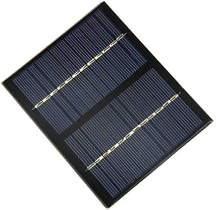fengzong 12V 1,5 W Universal Solarpanel Polykristallines Silizium DIY DIY Batterielademodul Kleine Solarzelle (schwarz)