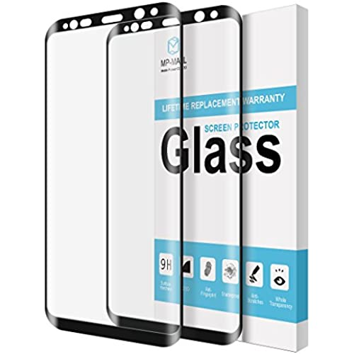 [2-PACK] MP-Mall For Samsung Galaxy S8 Plus Screen Protector [Tempered Glass] [Full Cover] with Lifetime Replacement Warranty Sales