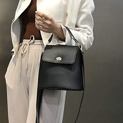 Joker Cube Diagonal Retro Dames Handbag Tas Flip Dames Handbag Handtassen Familizo Backpack Black Shoulder Locking Bag SxXqzgWCPw