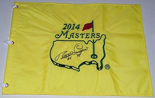 Bernhard Langer Signed Autographed Auto Masters Pin Flag w/85 & 93 - Augusta National