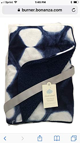 Clouds Clouds and More Clouds Soft Velboa Baby Blanket by NK Specialty Products ()