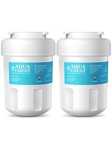 2 Pack AQUACREST MWF Replacement for GE MWF, MWFA SmartWater, Kenmore 469991 Refrigerator Water Filter
