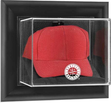 Mounted Memories Seattle Mariners Framed Wall Mounted Logo Cap Display Case (Mariners Seattle Memory)
