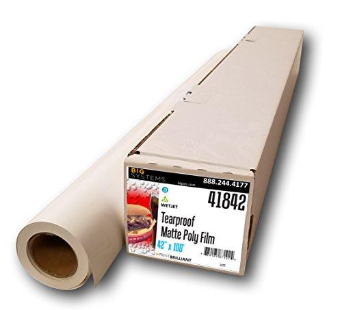 (WetJet Aqueous Matte Tear Proof Poly Film Photo Paper (42