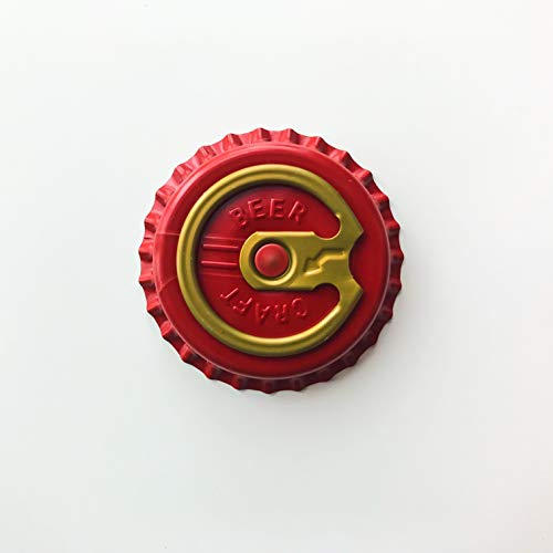 Bottle Cap - Pull tab Easy Open Crown Crown Cap 100 Count (by Weight) ... (Red Craft Beer)