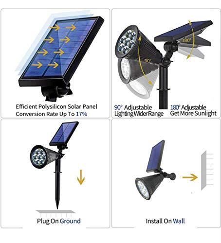 Appreciis 2 7 LED Solar Lights Spot Garden Landscape Dark Auto Lights Yard Lawn 7 LED