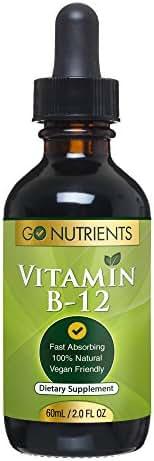 Vitamin B12 Sublingual Liquid Drops - Methylcobalamin 3000 mcg - Best Supplement to Increase Energy, Enhance Mood, Sharpen Focus and Boost Metabolism - Liquid Form for Fast Absorption, Vegan - 2 oz