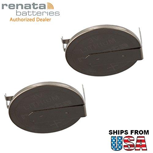 (2X Renata CR2025FH1-MFR 3V Lithium Coin Battery 2-PIN HORZ for PC CMOS Presario 300 CR2025-WR Evo N600c Motherboard C-MOS, S-RAM, RFID, Memory Support Compaq Armada M300 M700 CMOS/BIOS )