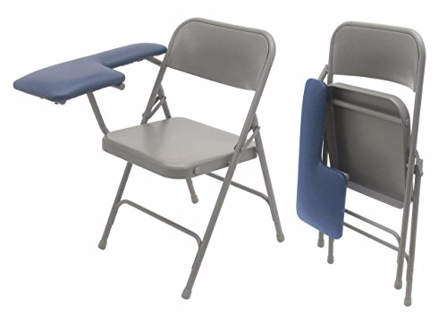 Trail Med Manufacturing Portable Mobile Folding Blood Draw Phlebotomy Chair  with Extra-Wide Upholstered Medical Vinyl Padded Draw Arm