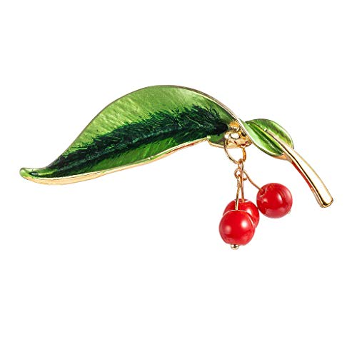 GoodLock(TM) Hot Sale!!  Brooch for Women  Creative Silk Scarf Buckle Pin Dual-use Leaf Vintage Inlaid Opal Brooches Jewelry Best Gifts (A)