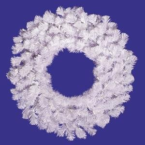 Vickerman Crystal White Garlands and Wreaths White Wreath 94