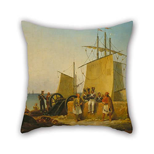 Slimmingpiggy Pillow Cases 16 X 16 Inches / 40 By 40 Cm(2 Sides) Nice Choice For Sofa,club,christmas,deck Chair,couples,bedding Oil Painting Finert Noel D. - The French Mission To The Morea (Pelopon