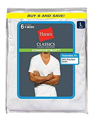 Hanes Ultimate Men's 6-Pack FreshIQ V-Neck Tee