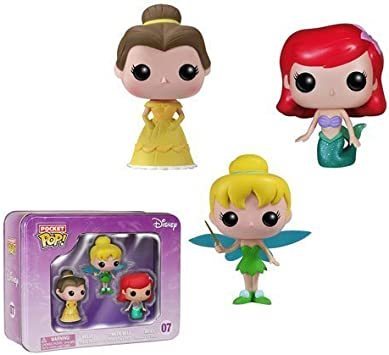 Funko Disney Princesses Pocket Pop! Mini Vinyl Figure 3-Pack Tin by: Amazon.es: Juguetes y juegos