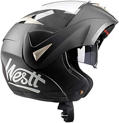 Amazon.es: Westt Torque - Casco De Moto Modular Integral Negro ...