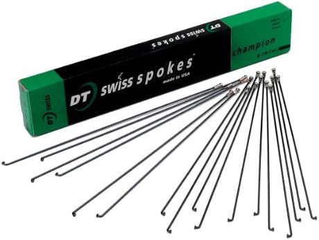 DT Swiss Champion 2.0 248mm Silver Spokes Box of 100