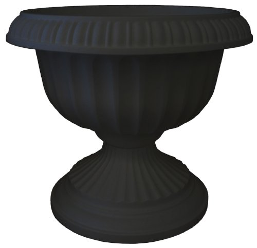 Bloem Grecian Urn Planter, 18'', Black by Bloem