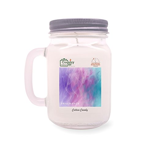 Country Jar Cotton Candy Mason Jar Candle (16 oz.) 100% Natural Soy (3 OR More Sale!)